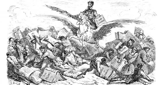 Grabado de Gustave Doré para la edición francesa del 'Quijote' de 1863. ARCHIVO