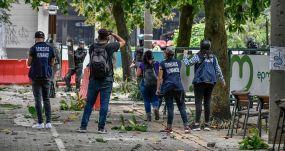 Defensores de Derechos Humanos, el 28 de abril 2021, en Medellín. FLICKR/HUMANO SALVAJE CON LICENCIA CC BY-SA 2.0