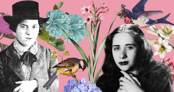 Las escritoras uruguayas Armonía Somers y Marosa di Giorgio. ELENA CANTÓN