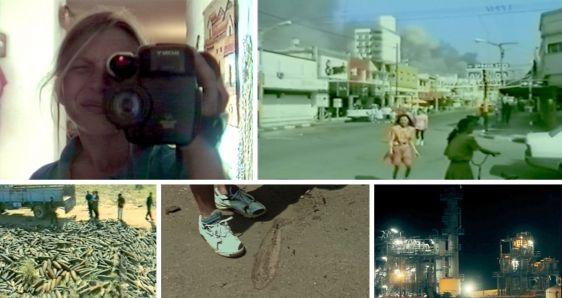 Diversos fotogramas del documental 'Esquirlas', de la cineasta argentina Natalia Garayalde. PUNTO DE FUGA CINE/ELENA CANTÓN