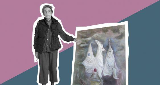 La pintora surrealista Leonora Carrington. ELENA CANTÓN/FOTO: JAVIER MARTÍN-DOMÍNGUEZ
