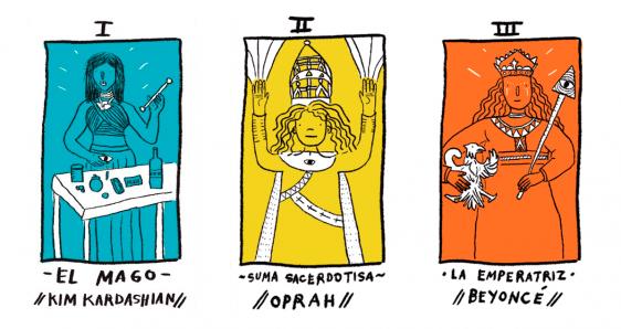 Cartas del 'Tarot magicomístico de estrellas (pop)', de Amalia Andrade. PLANETA