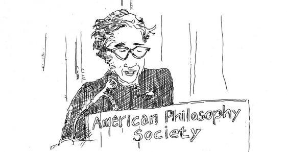 La filósofa Hannah Arendt, dibujada por Ken Krimstein. SALAMANDRA GRAPHIC