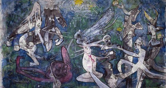'Munda y desnuda, la libertad contra la opresión', Roberto Matta (1986). MUSEO REINA SOFÍA