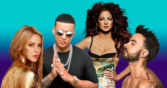 Shakira, Daddy Yankee, Gloria Estefan y Luis Fonsi. ELENA CANTÓN